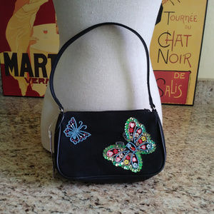 Charter Club Black Embellished Butterfly Purse NWT